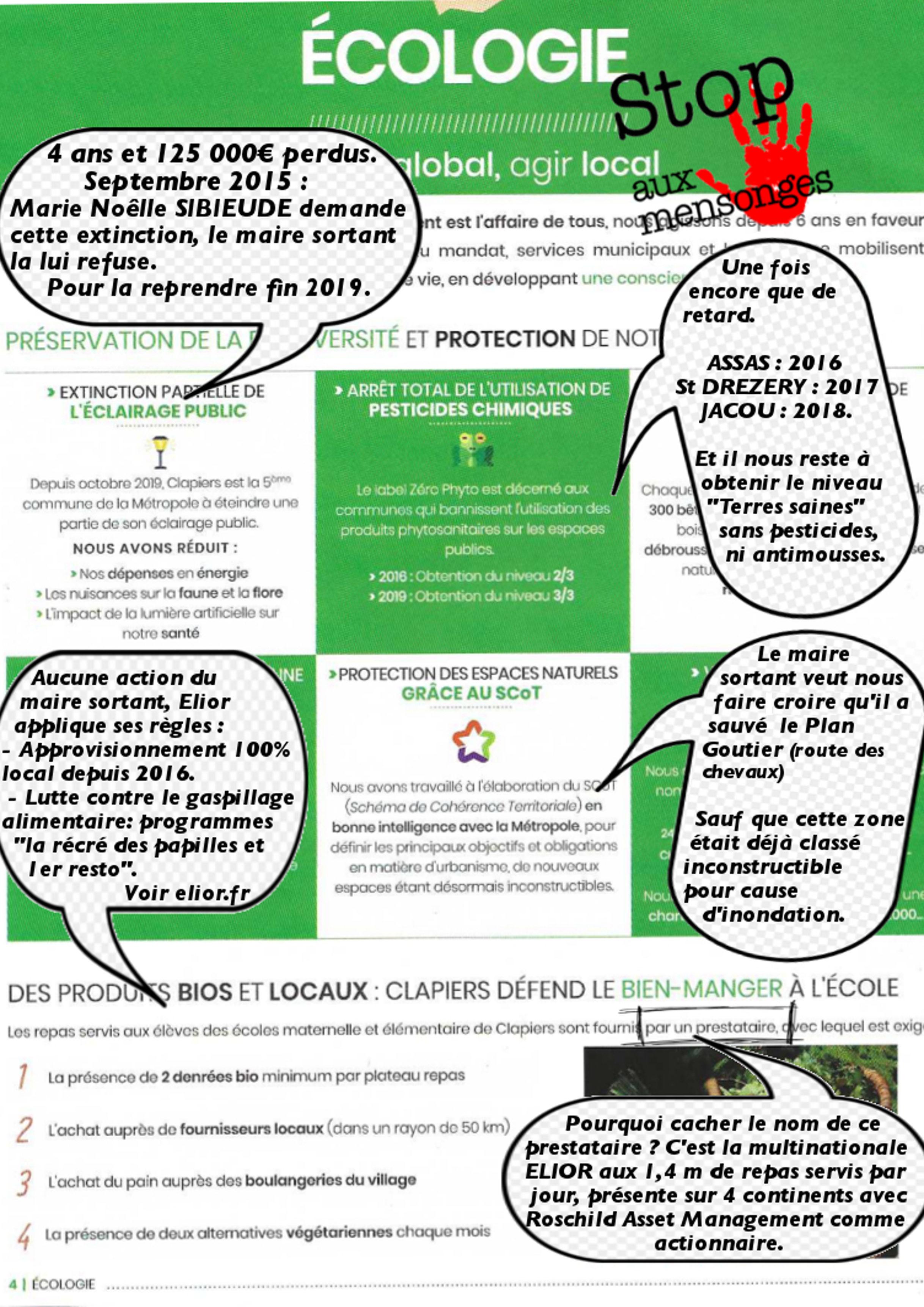 Le contre bilan du maire sortant de Clapiers sur l'écologie - 1/2