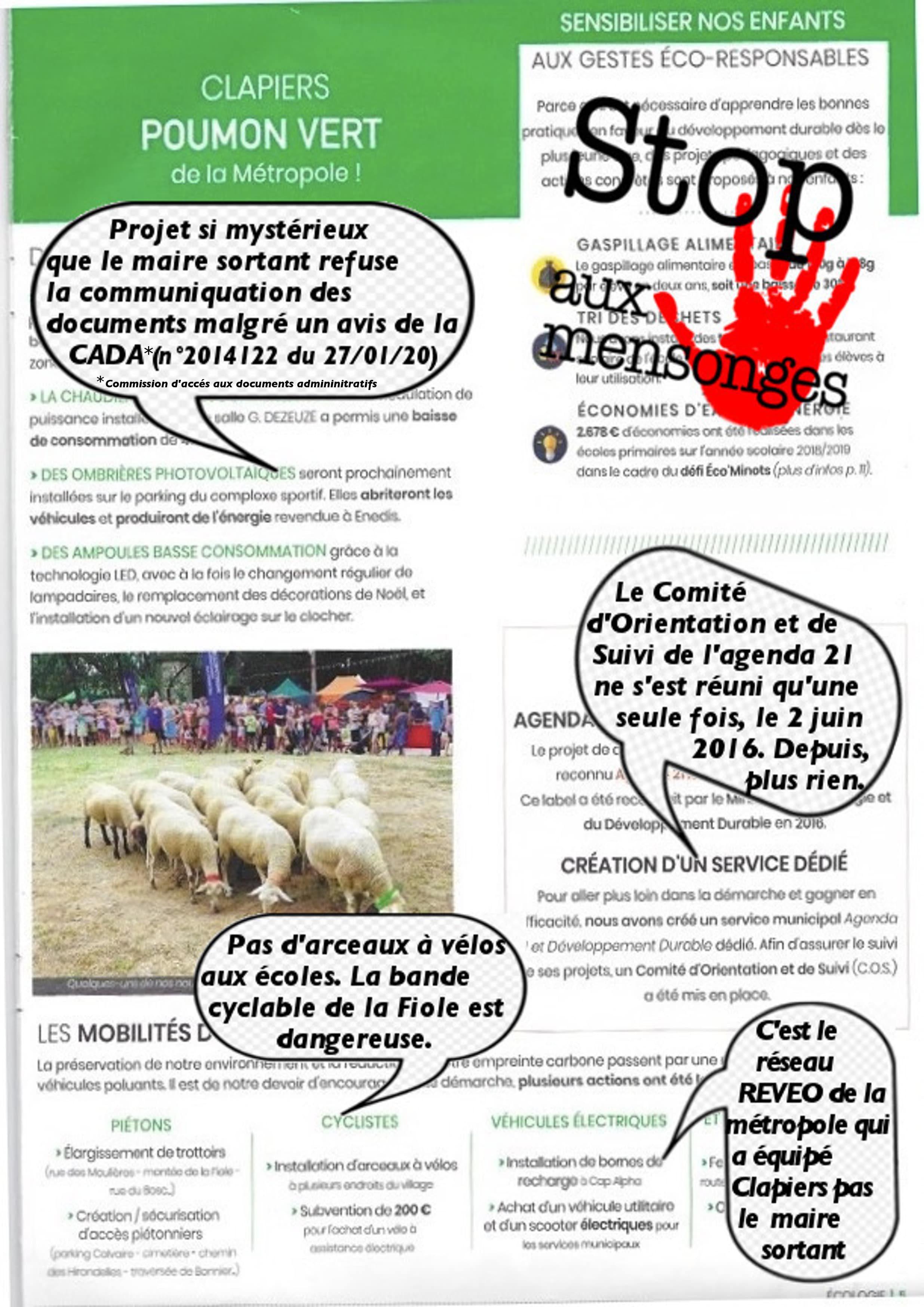 Le contre bilan du maire sortant de Clapiers sur l'écologie - 2/2